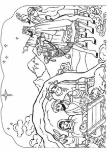 Nativity Scene Coloring Pages