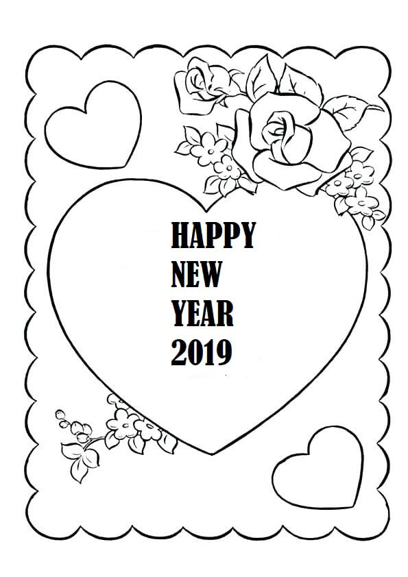 New Year 2019 Card Template