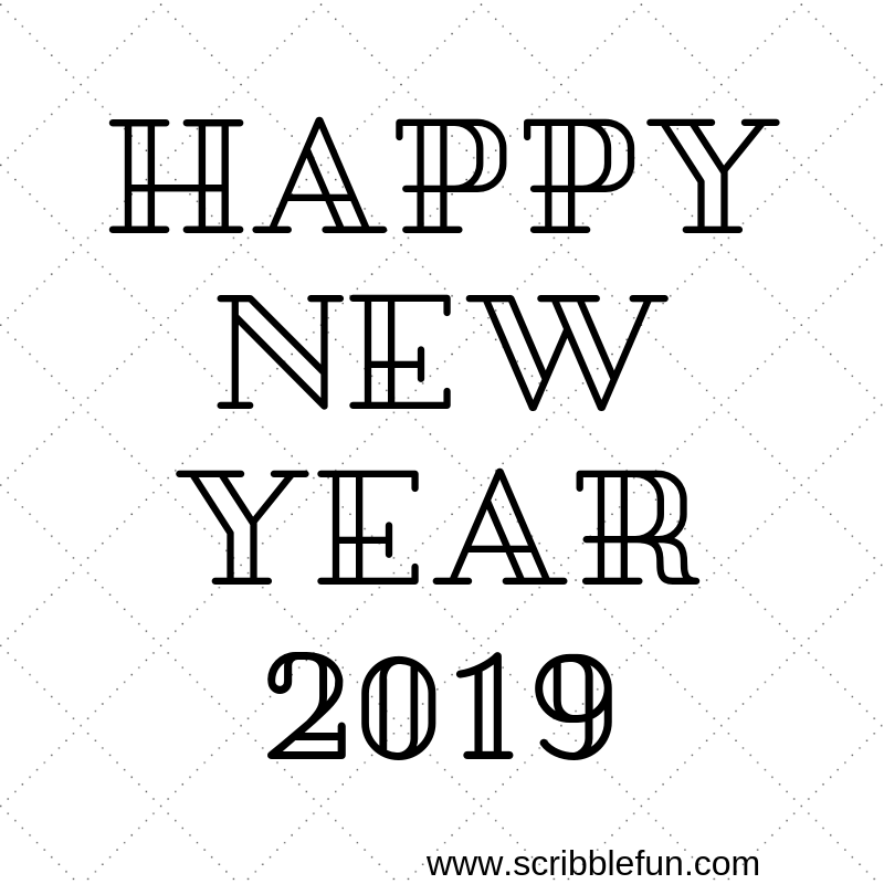 New Year 2019 Coloring Pages Printable