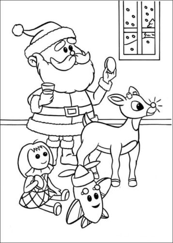 Rudolph The Red Nosed Reindeer Film Coloring Pages