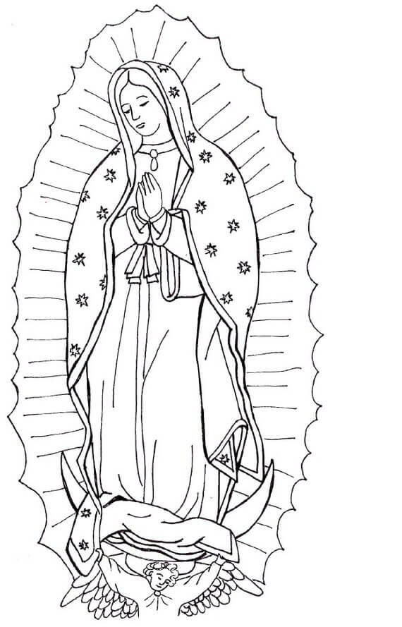 Solemnity of Mary Coloring Page