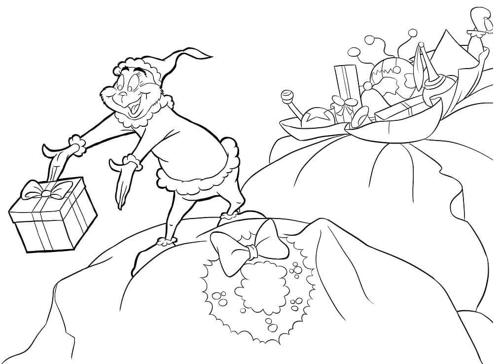 The Grinch Who Stole Christmas Coloring Pages Printable