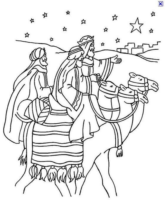 Three Wise Men Coloring Pages