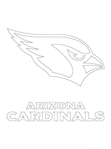 Arizona Cardinals Coloring Page