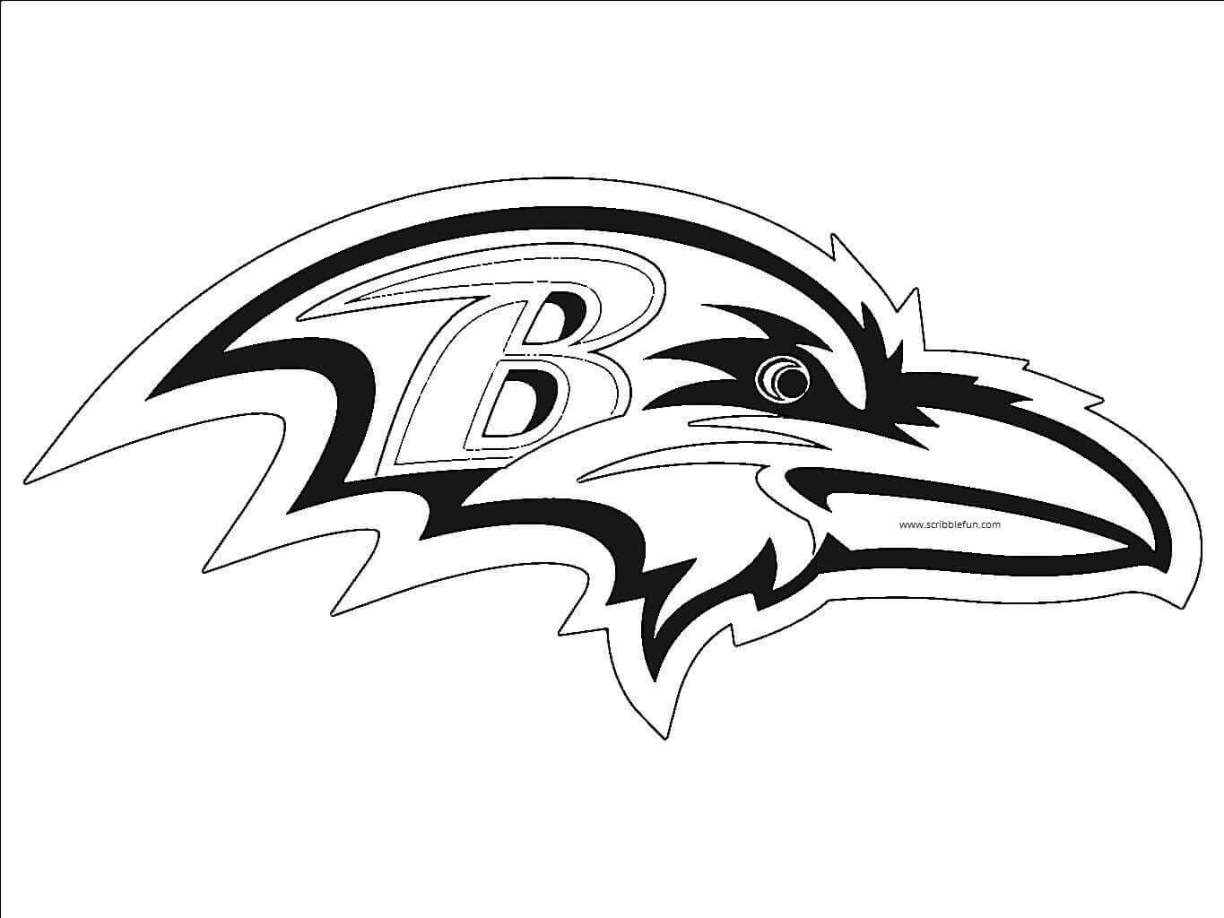 Baltimore Ravens Coloring Page