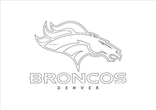 Broncos Denver Coloring Image