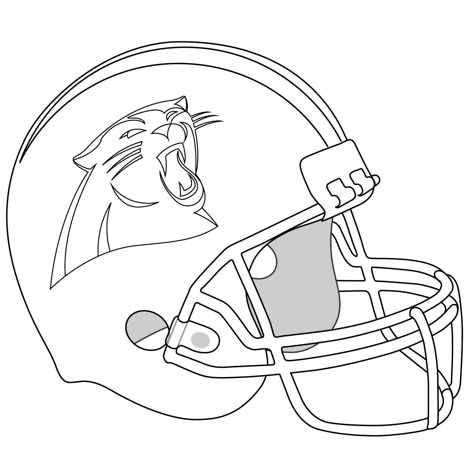 Carolina Panthers Helmet Coloring Page