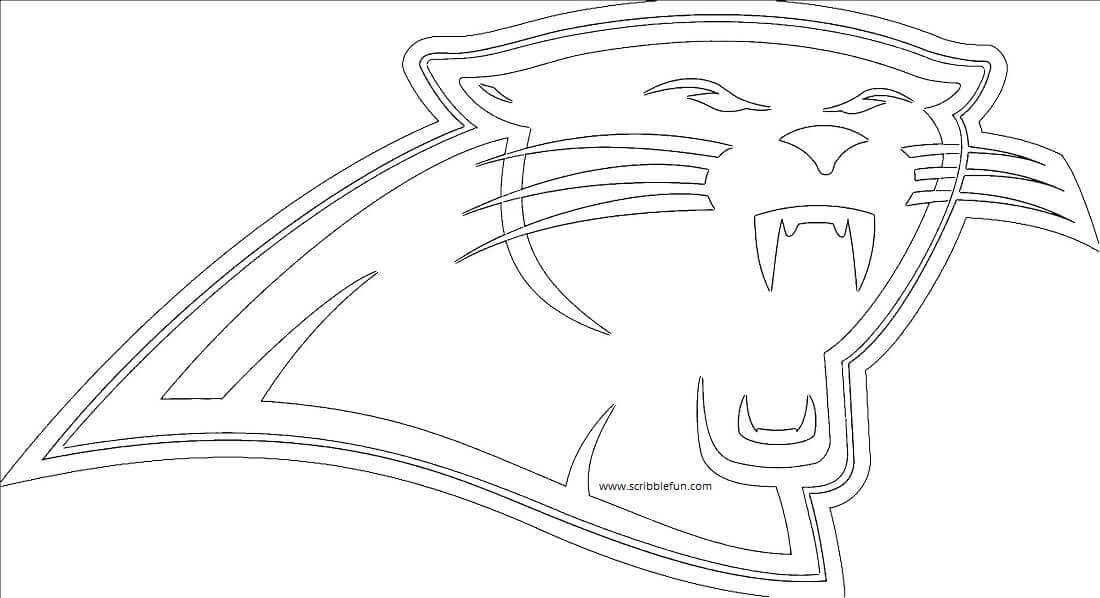 Carolina Panthers NFL Coloring Picture