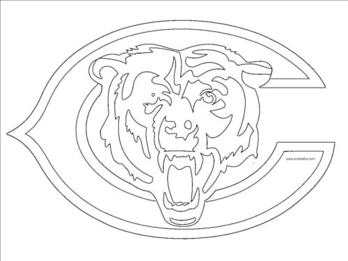 Chicago Bears Coloring Page