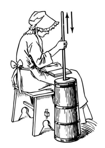 Churning Butter Kansas Day Coloring Pages To Print
