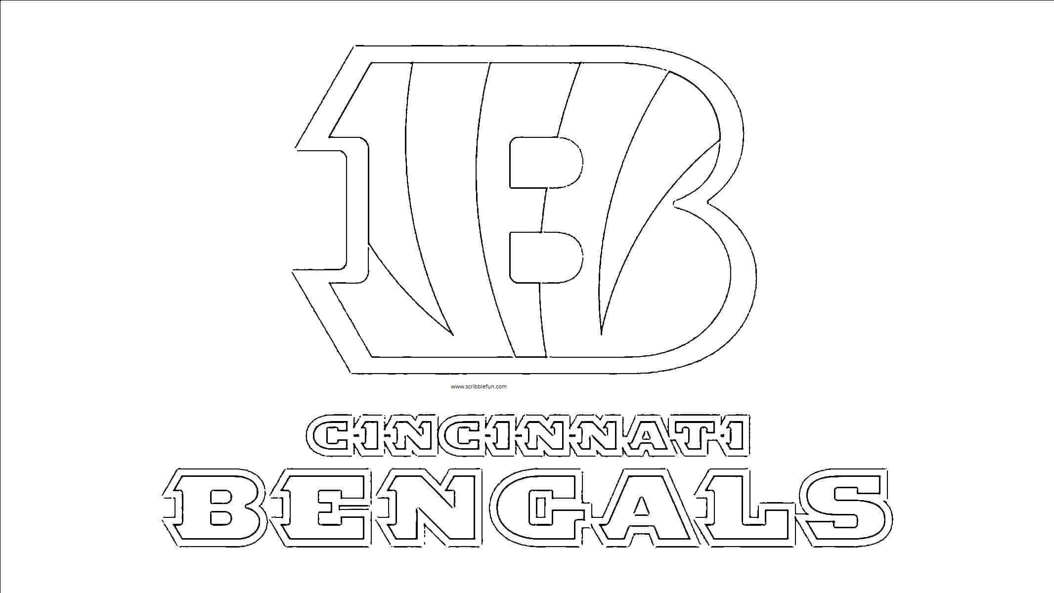 Cincinnati Bengals Coloring Page
