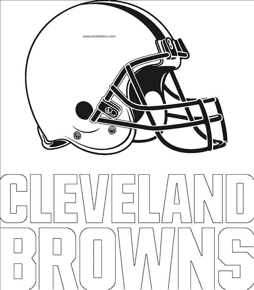 Cleveland Browns NFL Coloring Sheet