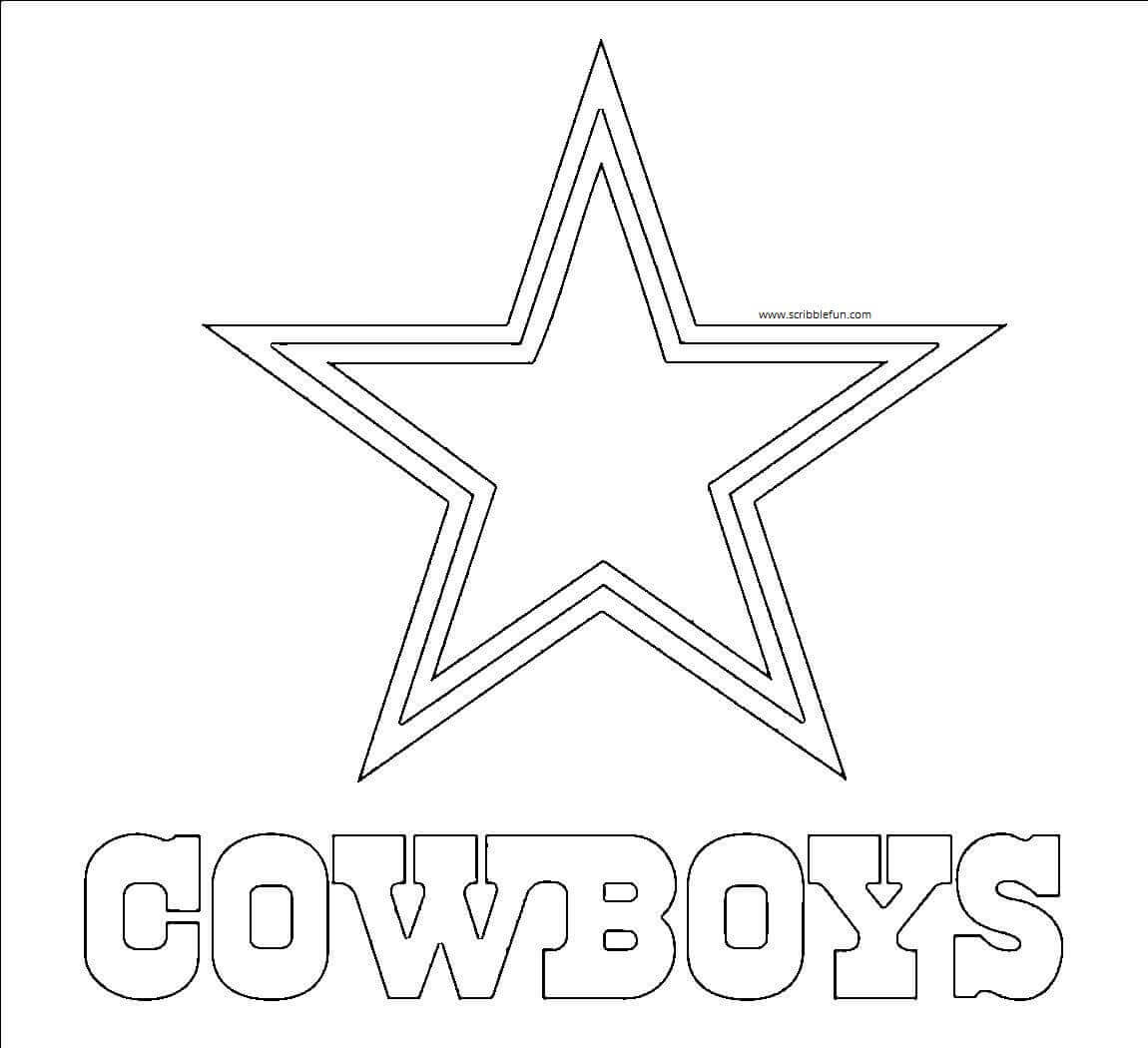 Dallas Cowboys NFL Colouring Page