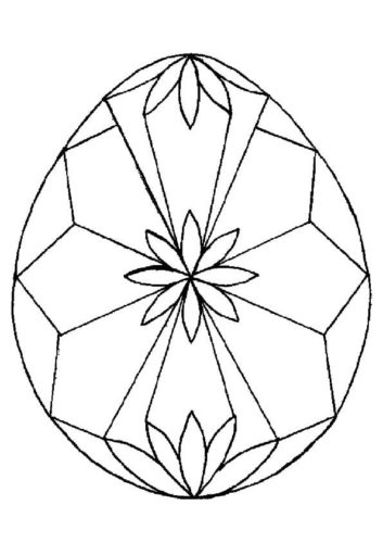 Diamond Pattern On Easter Egg Coloring Page