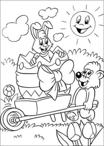 Easter Bunny Coloring Images To Print