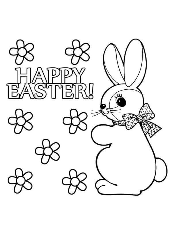 Easter Bunny Colouring Page
