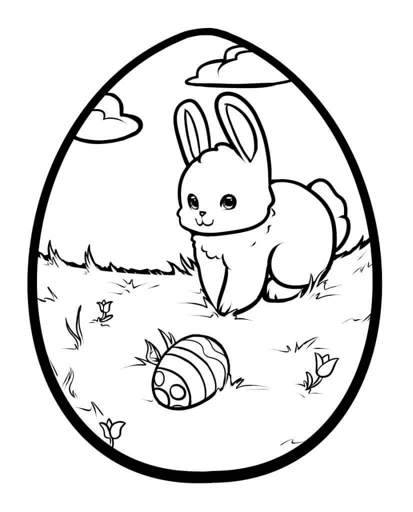 Easter Egg Artwork Coloring Page