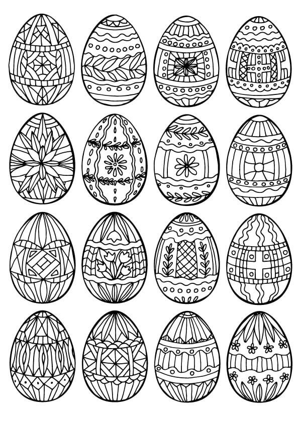 Easter Egg Coloring Page For Adults