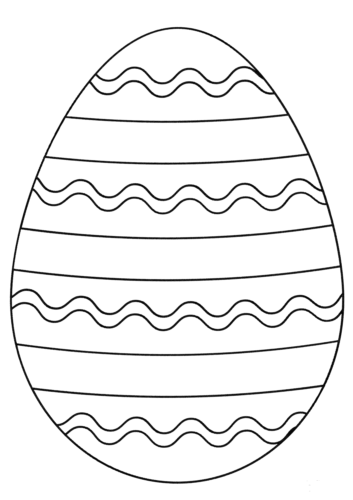 Easter Egg Coloring Page For Preschoolers