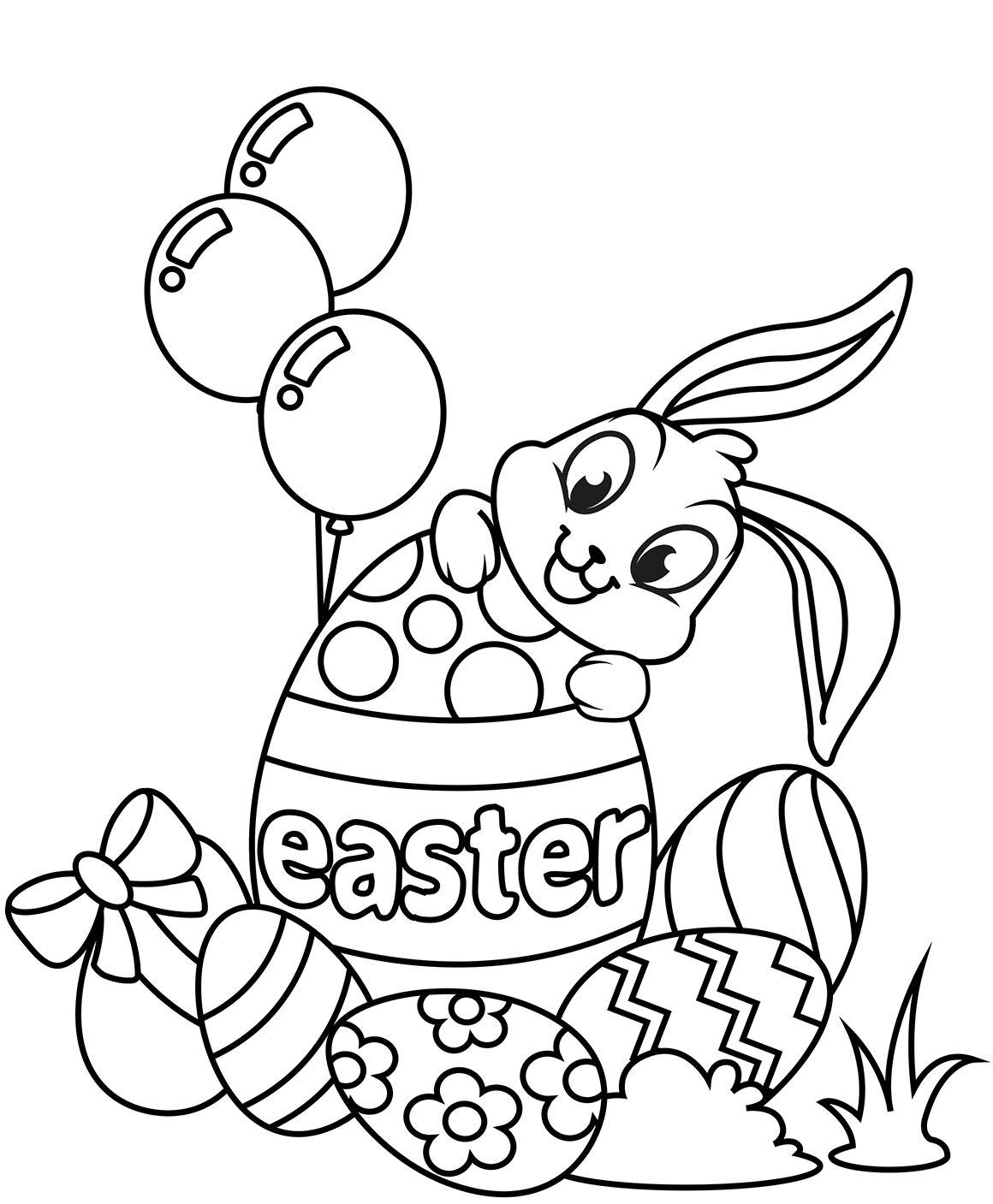 30 Free Easter Bunny Coloring Pages Printable