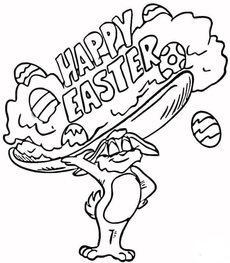 Easter Rabbit Coloring Pictures