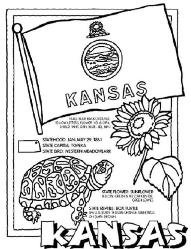 Free Printable Kansas Day Coloring Pages