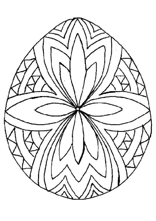 Geometric Easter Egg Coloring Pages