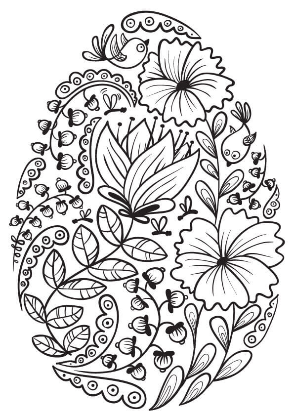 30 Free Easter Egg Coloring Pages