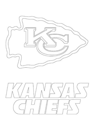 Kansas City Chief Coloring Page