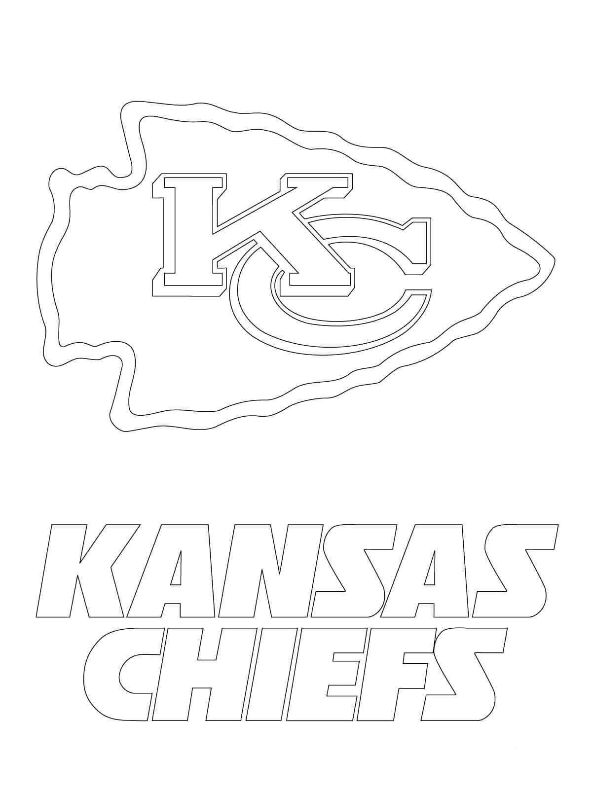 Kansas City Chief Coloring Page