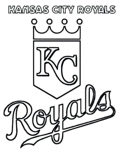 Kansas City Royals Coloring Picture