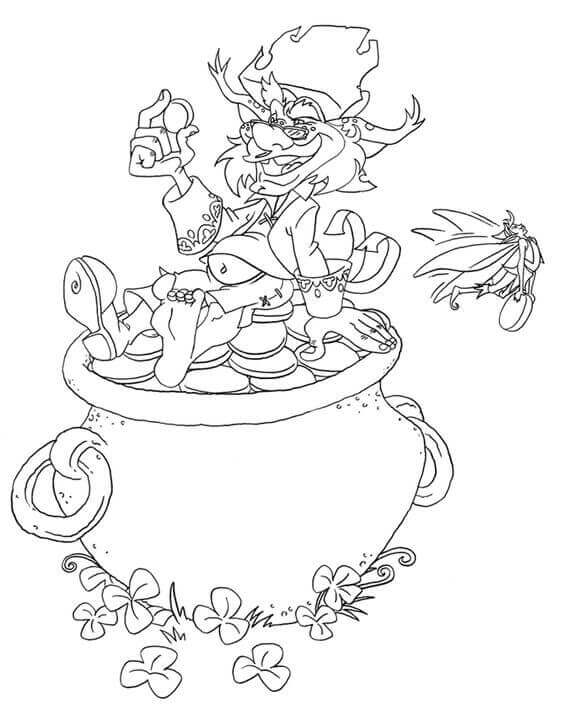 Leprechaun Coloring Pages Free Printable