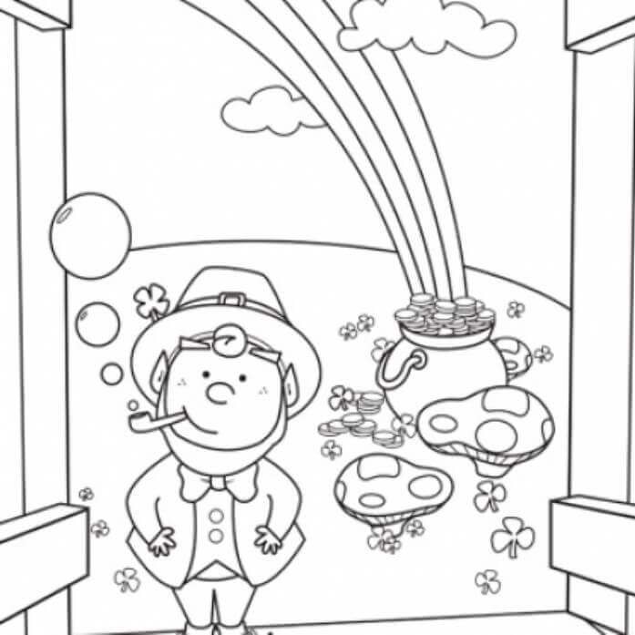 Leprechaun Coloring Pictures To Print