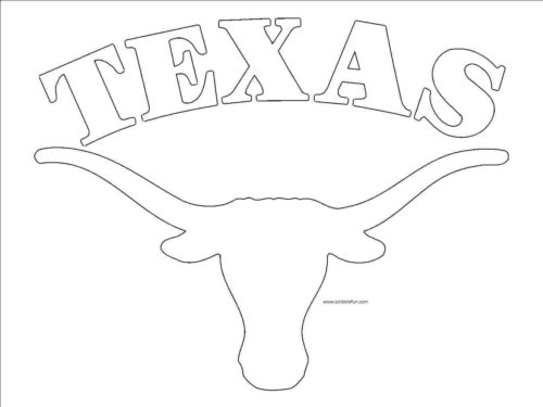 Longhorns Texas Coloring Pictures NFL