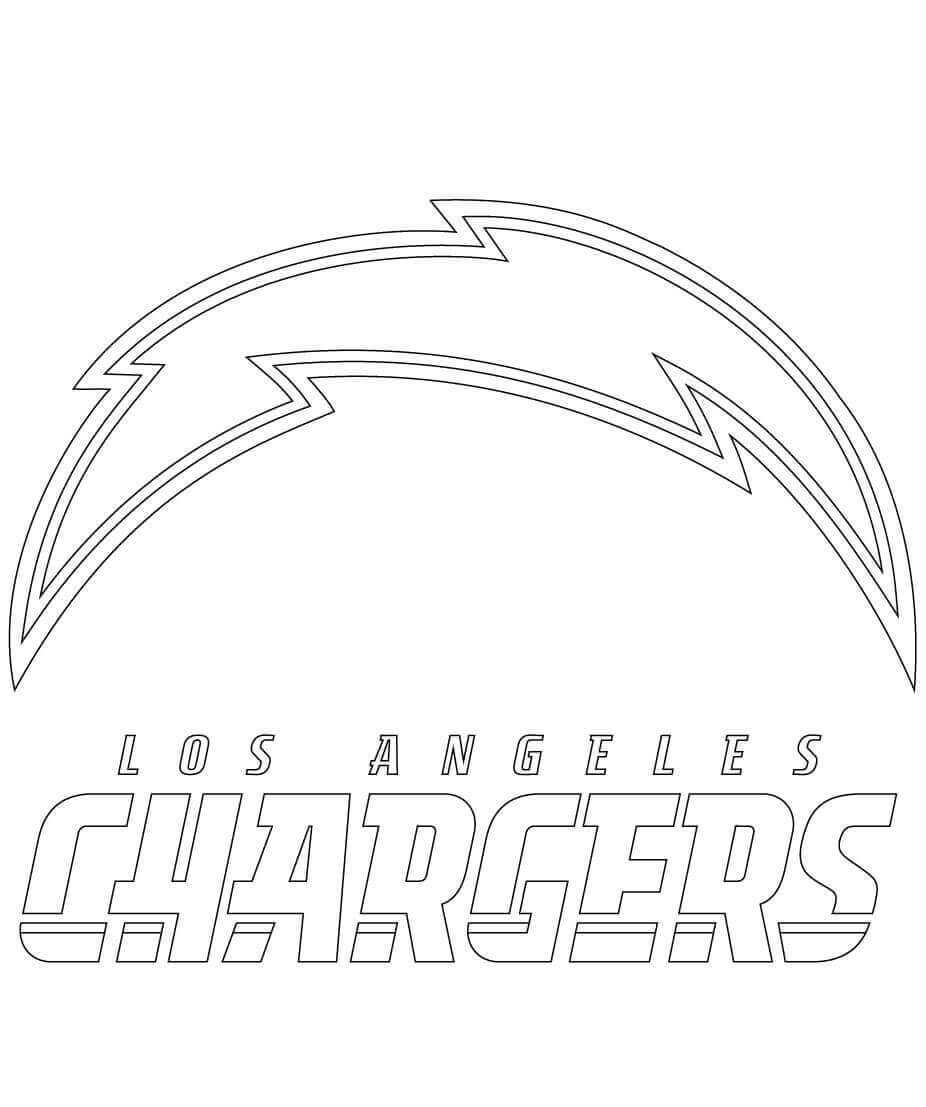 Los Angeles Chargers Coloring Page NFL
