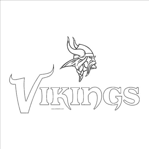 Minnesota Vikings Coloring Page