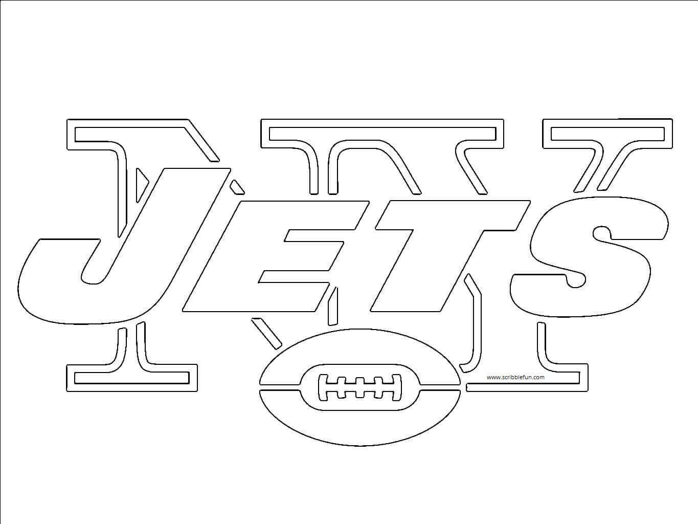 New York Jets NFL Coloring Sheet