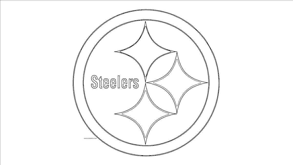steelers logos coloring pages | 30 Free NFL Coloring Pages Printable