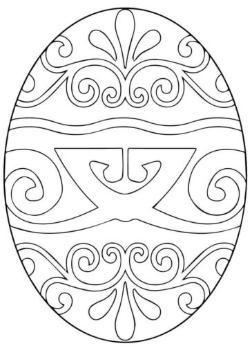 Pysanka Ukrainian Easter Egg Coloring Sheet