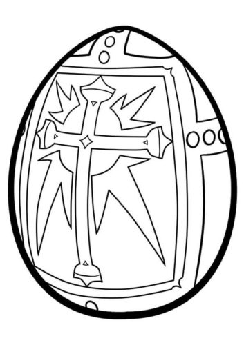 Religious Easter Egg Coloring Page