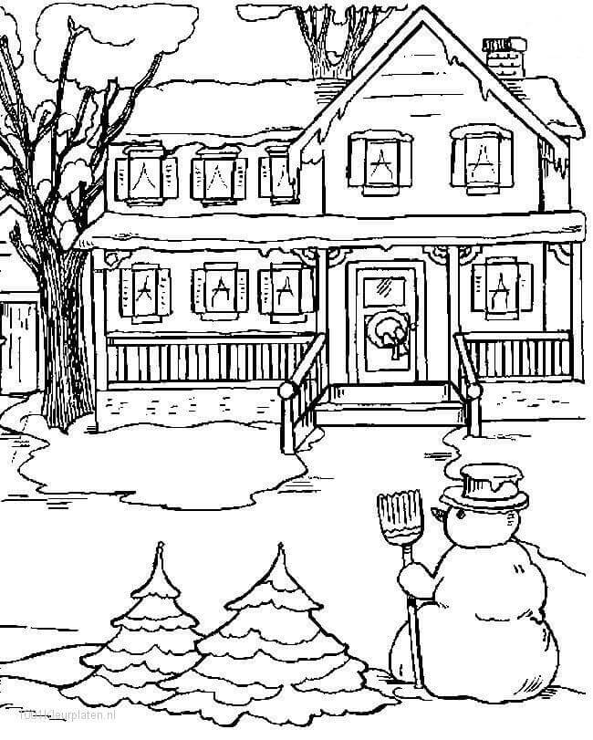 Snow Coloring Pages Printable
