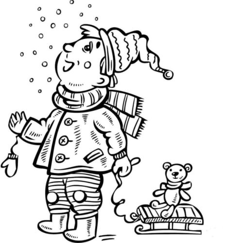 Snowfall Coloring Pages Printable