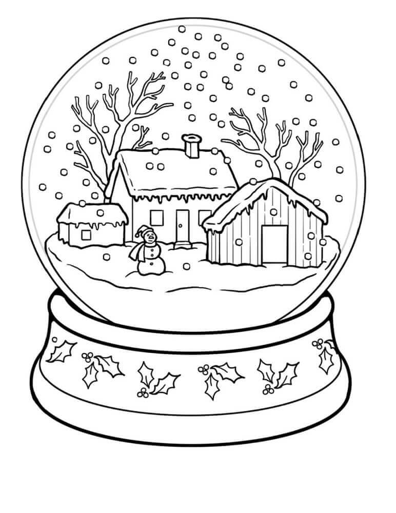 Snowglobe Coloring Pages