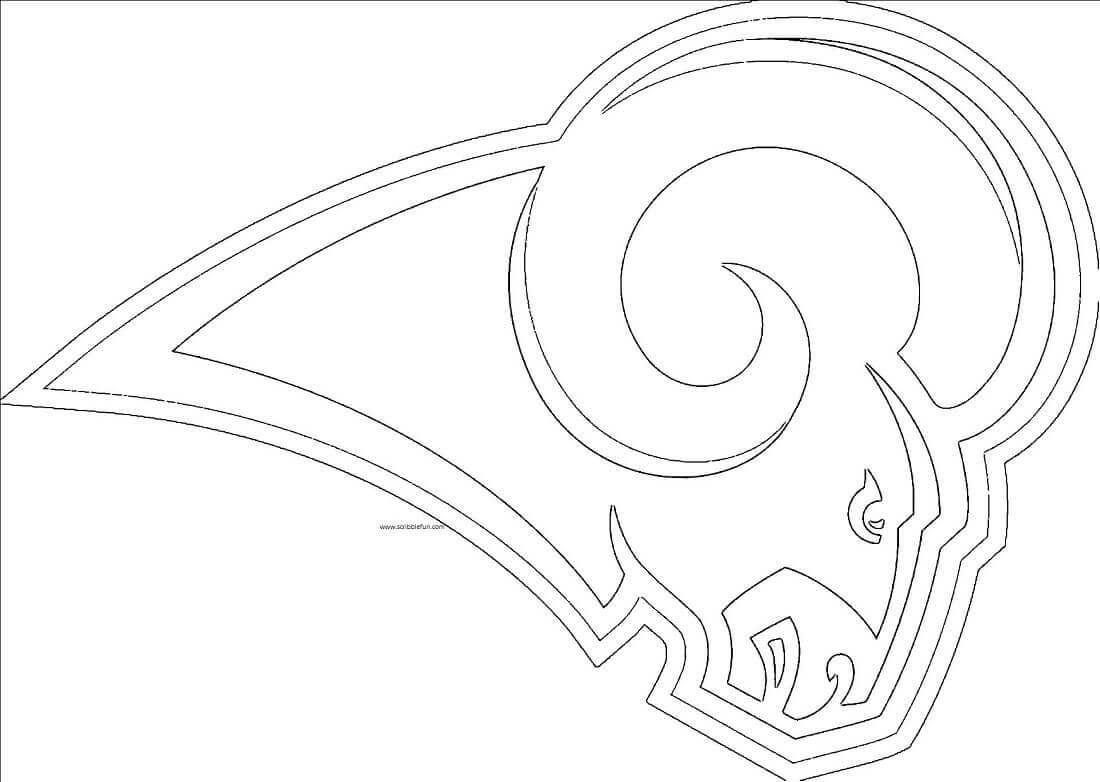 St Louis Rams Coloring Picture