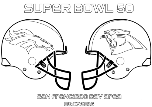 Super Bowl 2016 Coloring Page
