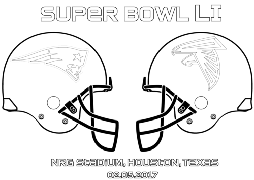 Super Bowl 2017 Coloring Page