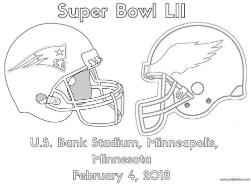 Super Bowl 2018 Coloring Page
