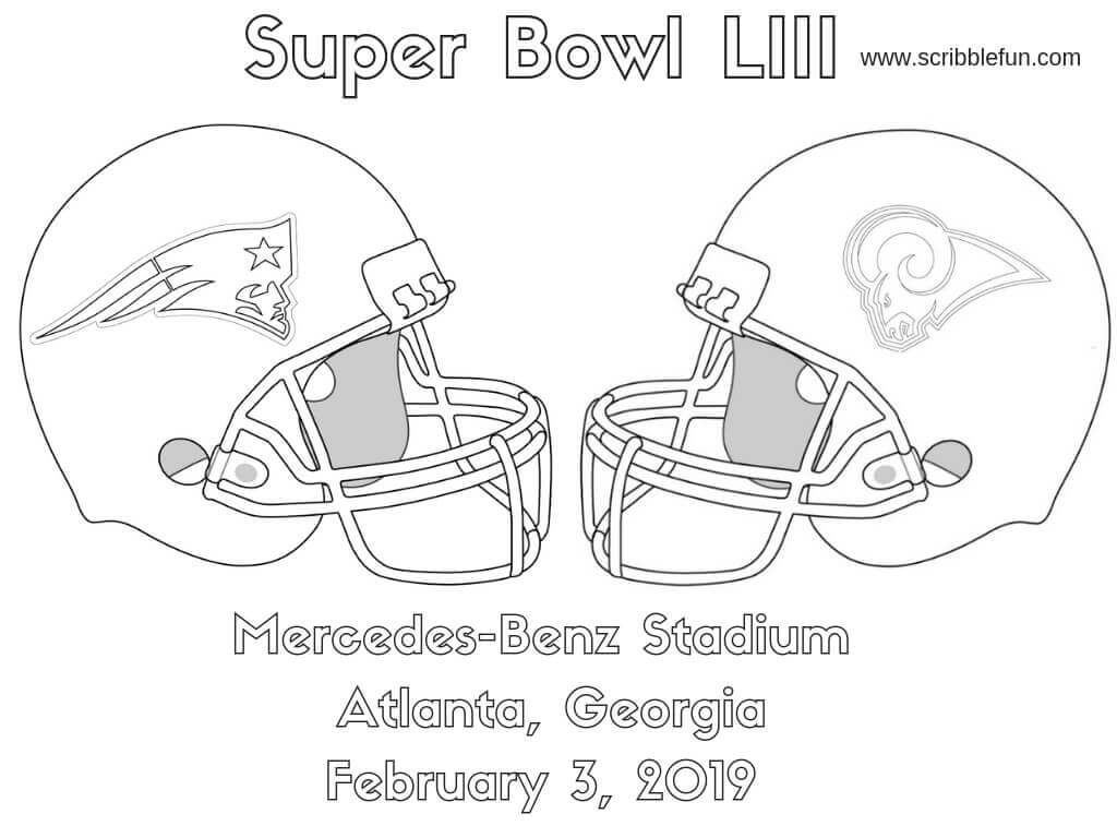Super Bowl 2019 Coloring Page