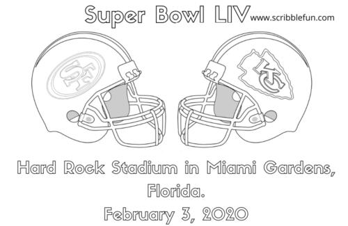 Super Bowl 2020 Coloring Page