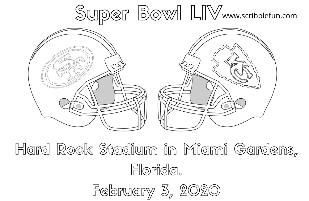 Super Bowl 2020 Coloring Page